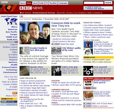 Screen shot of BBC.CO.UK